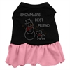 Mirage Pet Products Snowman's Best Friend Rhinestone Dress Black with Pink XS (8)