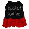 Mirage Pet Products Spoiled Rotten Rhinestone Dress Black with Red XL (16)