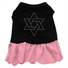 Mirage Pet Products Star of David Rhinestone Dress Black with Pink XXXL (20)