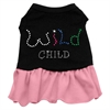 Mirage Pet Products Rhinestone Wild Child Dress  Black with Pink Lg (14)
