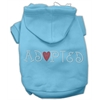 Mirage Pet Products Adopted Hoodie Baby Blue XS (8)