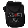Mirage Pet Products Adopt Me Rhinestone Hoodie Black XXL (18)