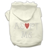 Mirage Pet Products Adopt Me Rhinestone Hoodie Cream M (12)