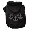 Mirage Pet Products Rhinestone Anchors Hoodies Black L (14)