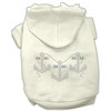 Mirage Pet Products Rhinestone Anchors Hoodies Cream XS (8)