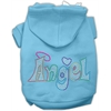Mirage Pet Products Technicolor Angel Rhinestone Pet Hoodie Baby Blue XL (16)