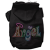 Mirage Pet Products Technicolor Diva Rhinestone Pet Hoodie Black Lg (14)