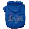 Mirage Pet Products Technicolor Angel Rhinestone Pet Hoodie Blue Lg (14)