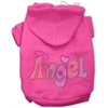 Mirage Pet Products Technicolor Angel Rhinestone Pet Hoodie Bright Pink Med (12)