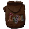 Mirage Pet Products Technicolor Angel Rhinestone Pet Hoodie Brown Med (12)
