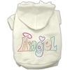 Mirage Pet Products Technicolor Angel Rhinestone Pet Hoodie Cream Lg (14)
