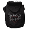 Mirage Pet Products Angel Heart Rhinestone Hoodies Black XL (16)