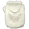Mirage Pet Products Angel Heart Rhinestone Hoodies Cream XXXL(20)