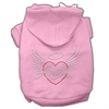 Mirage Pet Products Angel Heart Rhinestone Hoodies Pink XXXL(20)