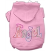 Mirage Pet Products Technicolor Angel Rhinestone Pet Hoodie Light Pink Med (12)