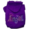Mirage Pet Products Technicolor Angel Rhinestone Pet Hoodie Purple Lg (14)