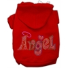 Mirage Pet Products Technicolor Angel Rhinestone Pet Hoodie Red Med (12)