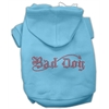 Mirage Pet Products Bad Dog Rhinestone Hoodies Baby Blue XL (16)