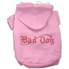 Mirage Pet Products Bad Dog Rhinestone Hoodies Pink XL (16)