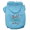 Mirage Pet Products Bah Humbug Rhinestone Hoodies Baby Blue XXXL(20)