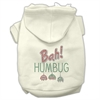 Mirage Pet Products Bah Humbug Rhinestone Hoodies Cream XXXL(20)