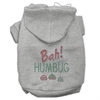 Mirage Pet Products Bah Humbug Rhinestone Hoodies Grey XXXL(20)