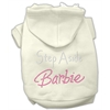 Mirage Pet Products Step Aside Barbie Hoodies Cream XXXL(20)