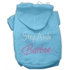 Mirage Pet Products Step Aside Barbie Hoodies Baby Blue XXXL(20)