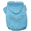Mirage Pet Products Beach Sandals Rhinestone Hoodies Baby Blue XXL (18)