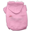 Mirage Pet Products Believe Hoodies Pink XXXL(20)
