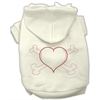 Mirage Pet Products Heart and Crossbones Hoodies Cream XS (8)