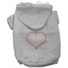 Mirage Pet Products Heart and Crossbones Hoodies Grey XXL (18)