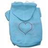 Mirage Pet Products Heart and Crossbones Hoodies Baby Blue XXXL(20)