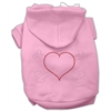 Mirage Pet Products Heart and Crossbones Hoodies Pink M (12)