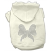 Mirage Pet Products Rhinestone Bow Hoodies Cream XS (8)