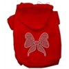 Mirage Pet Products Rhinestone Bow Hoodies Red XS (8)