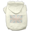 Mirage Pet Products British Flag Hoodies Cream XXXL(20)
