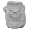 Mirage Pet Products British Flag Hoodies Grey XXXL(20)