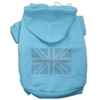 Mirage Pet Products British Flag Hoodies Baby Blue XXXL(20)