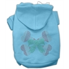 Mirage Pet Products Candy Cane Crossbones Rhinestone Hoodie Baby Blue S (10)