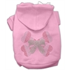 Mirage Pet Products Candy Cane Crossbones Rhinestone Hoodie Pink XL (16)