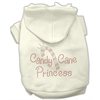 Mirage Pet Products Candy Cane Princess Hoodies Cream XXXL(20)