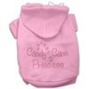 Mirage Pet Products Candy Cane Princess Hoodies Pink XXXL(20)