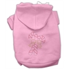 Mirage Pet Products Candy Cane Hoodies Pink S (10)