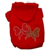 Mirage Pet Products Christmas Bows Rhinestone Hoodie Red XS (8)