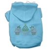 Mirage Pet Products Christmas Cupcakes Rhinestone Hoodie Baby Blue XXL (18)