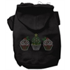 Mirage Pet Products Christmas Cupcakes Rhinestone Hoodie Black XS (8)