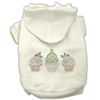 Mirage Pet Products Christmas Cupcakes Rhinestone Hoodie Cream S (10)