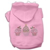 Mirage Pet Products Christmas Cupcakes Rhinestone Hoodie Pink XL (16)