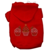 Mirage Pet Products Christmas Cupcakes Rhinestone Hoodie Red XS (8)